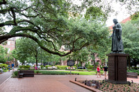 Reynolds Square and statue of John Wesley