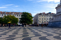 The seemingly wavy but perfectly flat Praça Rossio
