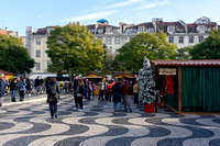 Christmas market on Praça Rossio