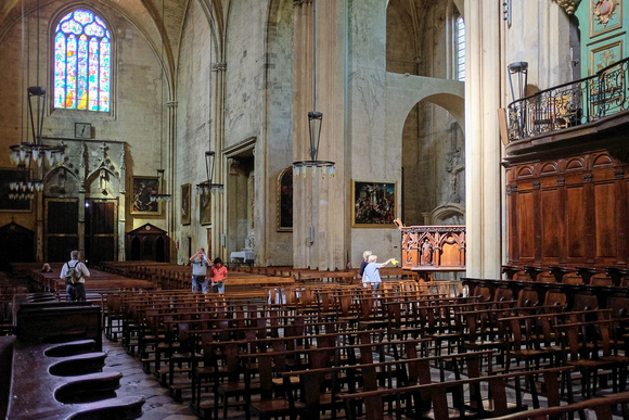 Inside the Saint Sauveur Cathedral