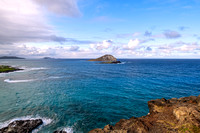 The Pacific Ocean and Mānana Island seen from the Makapu'u Lookout