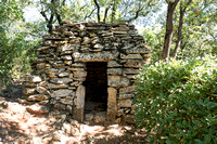 A first borie, a circular shepherd's hut built of dry stones