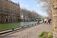 Along the Canal Saint-Martin