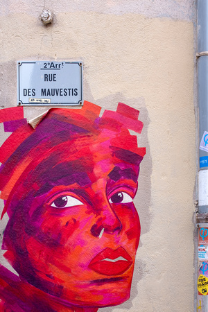 Wall art in Le Panier