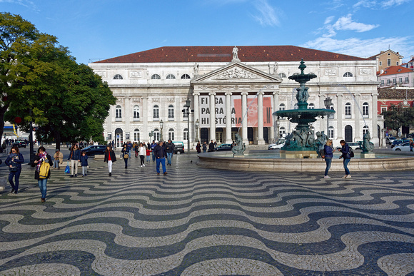 Praça Rossio and the National Theater