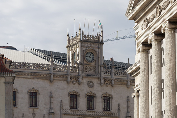 Roof of the Lisboa–Rossio train station