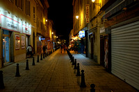 The Rue Notre Dame at night