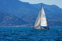 Sailing with the Esterel as a backdrop