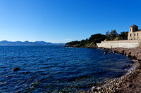 Looking west along the south shore of Saint Honorat