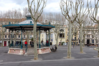 The bandstand on the Place Aristide Briand